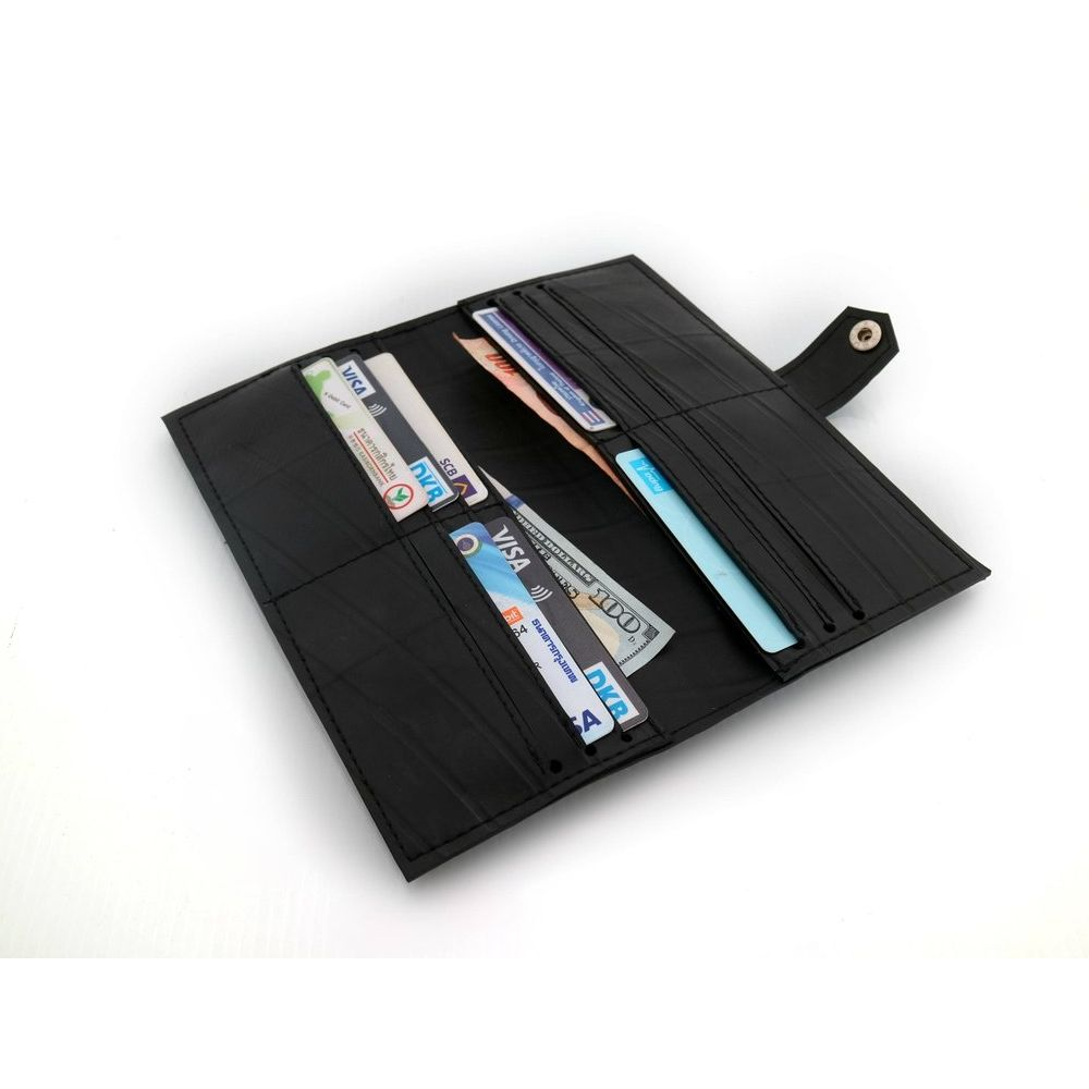 WALLET Recycled Cards Wallet - Black