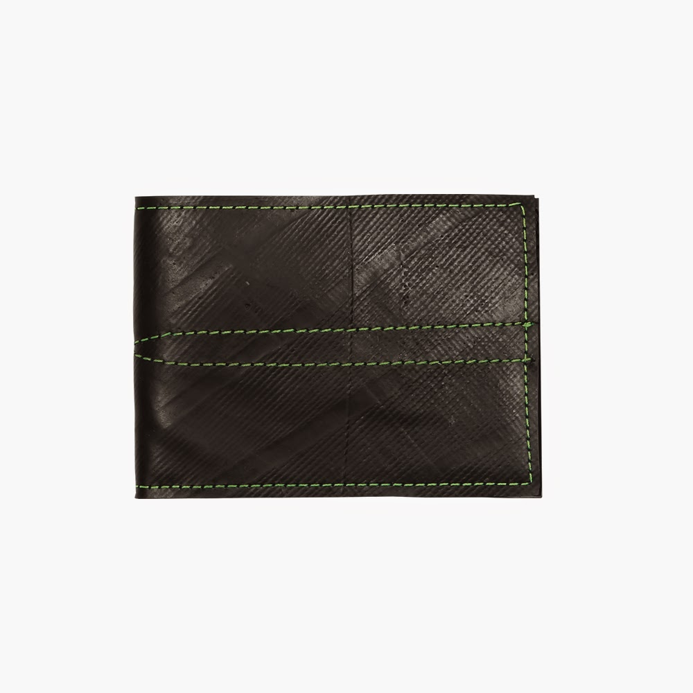 Recycled Denny Wallet - Black/Green