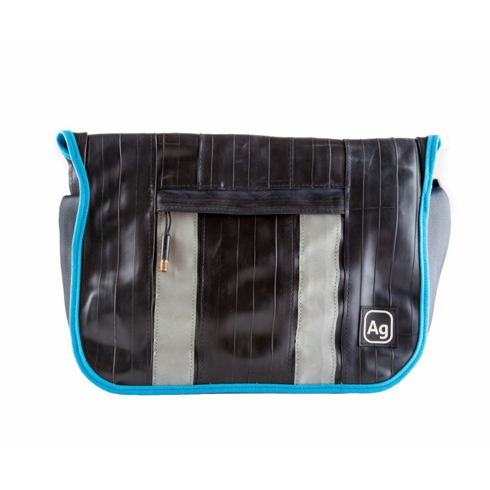 Alchemy Goods Recycled Pine Messenger Bag - Black/Turquoise