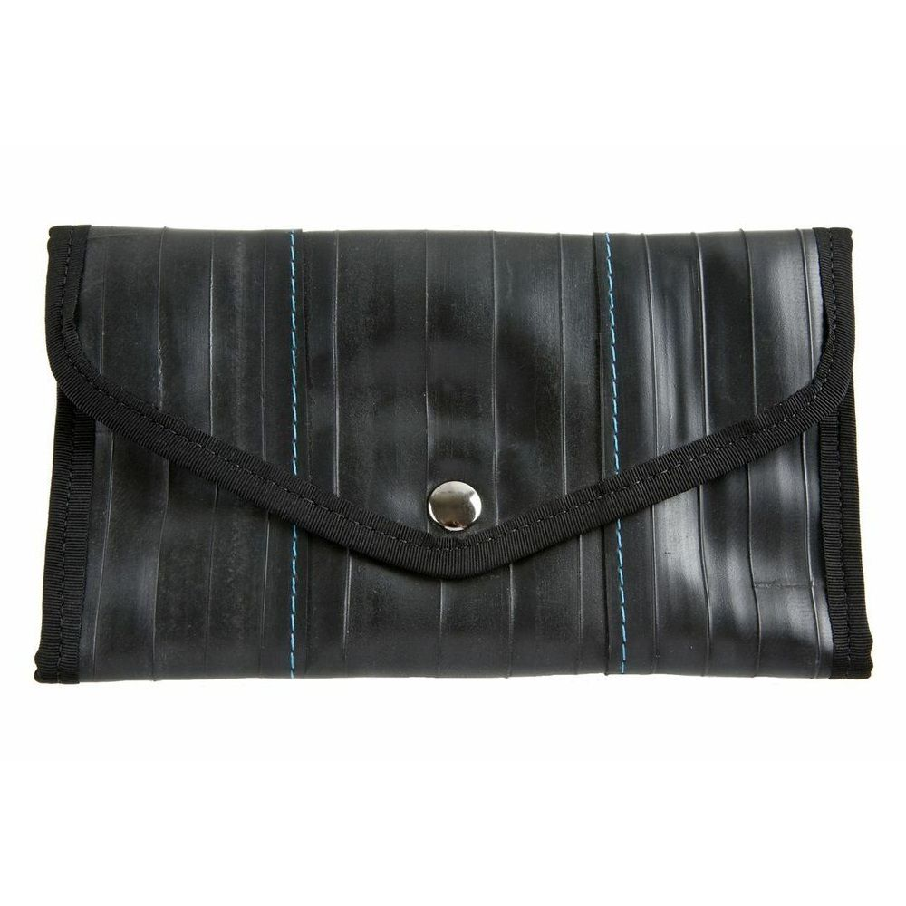 Alchemy Goods Recycled Queen Anne Wallet - Black/Turquoise