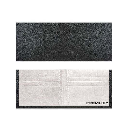 Tyvek Billfold - Black Leather
