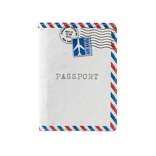 Dynomighty Tyvek Passport Cover - Black Leather