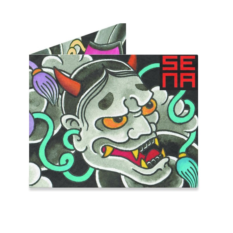 Dynomighty Mighty Wallet - Japanese Noh Maskes