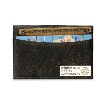 Mighty Card Case - Black Leather