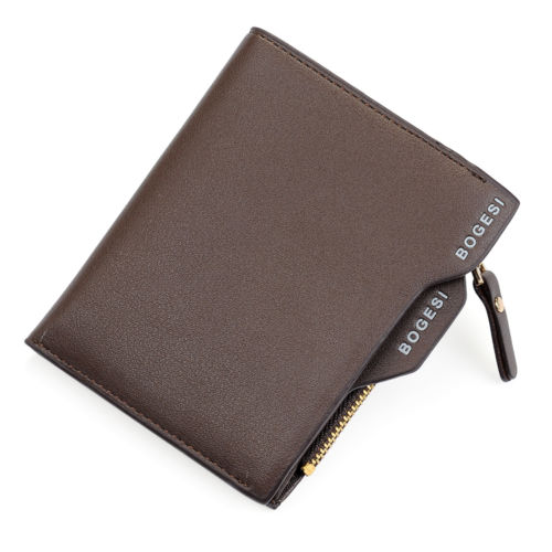 PU Leather Wallet With Removable Card Case - Brown