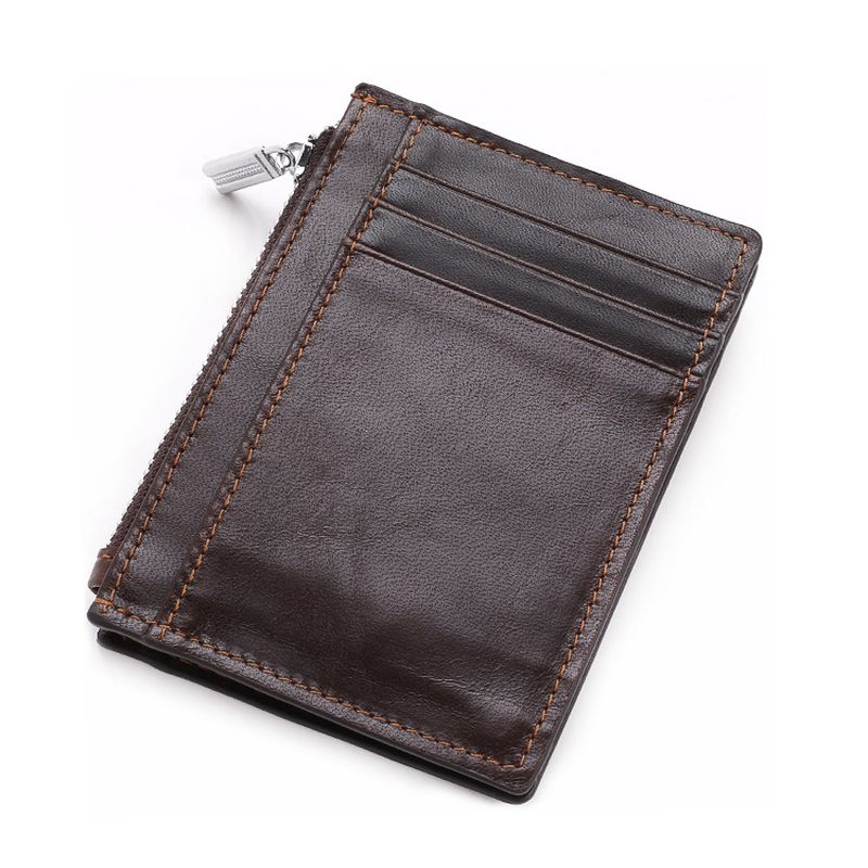 WALLET The Perfect Mens Minimalist Wallet - Dark Brown