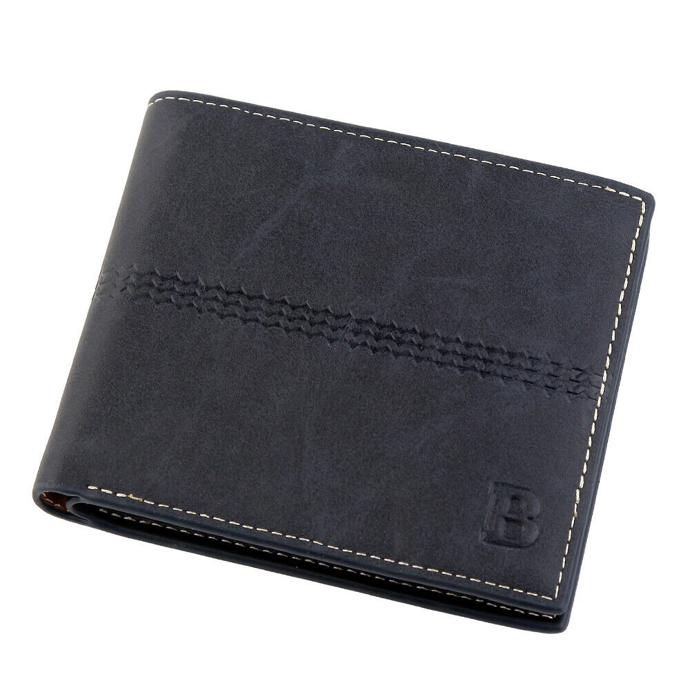 WALLET Bi Fold PU Leather Wallet  - Blue