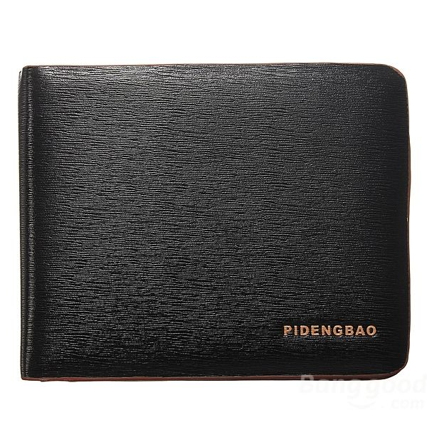WALLET Bi Fold PU Leather Wallet  - Black/Orange