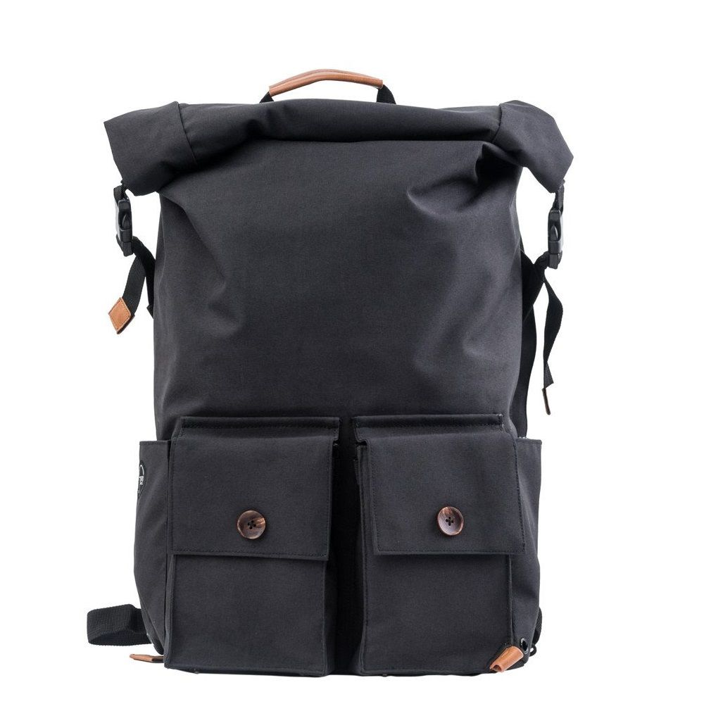 PKG Backpack Rolltop Pack  - Black