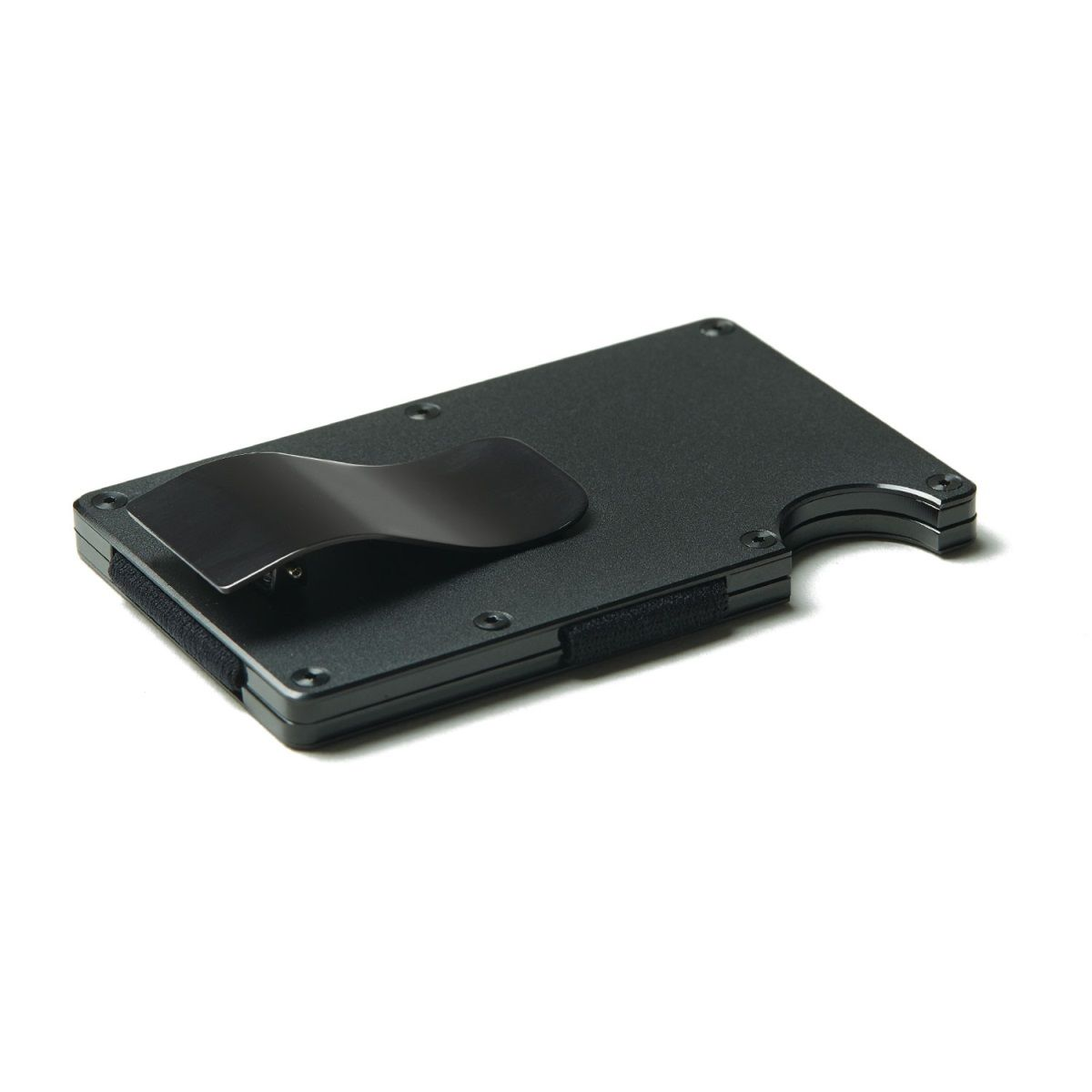 THE RIDGE Aluminum Wallet With Money Clip - Black
