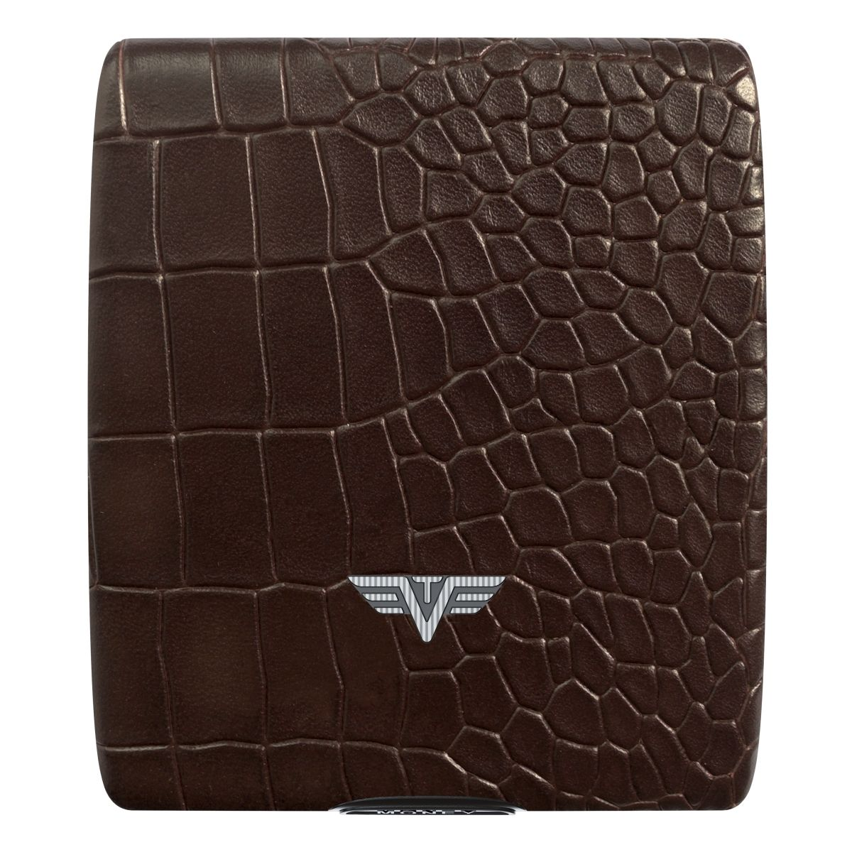 TRU VIRTU Aluminum Wallet Beluga - Money & Cards - Leather Line - Corco Brown