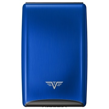 TRU VIRTU Aluminum Razor - Credit Card Case - Blue
