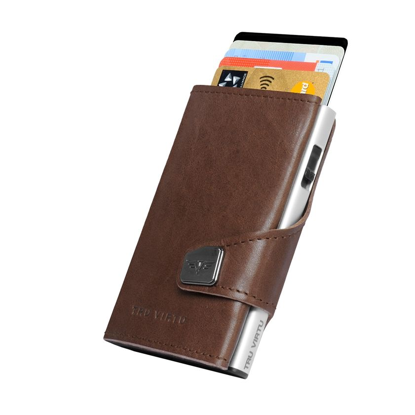 TRU VIRTU Click n Slide Wallet - Dakota Cigar