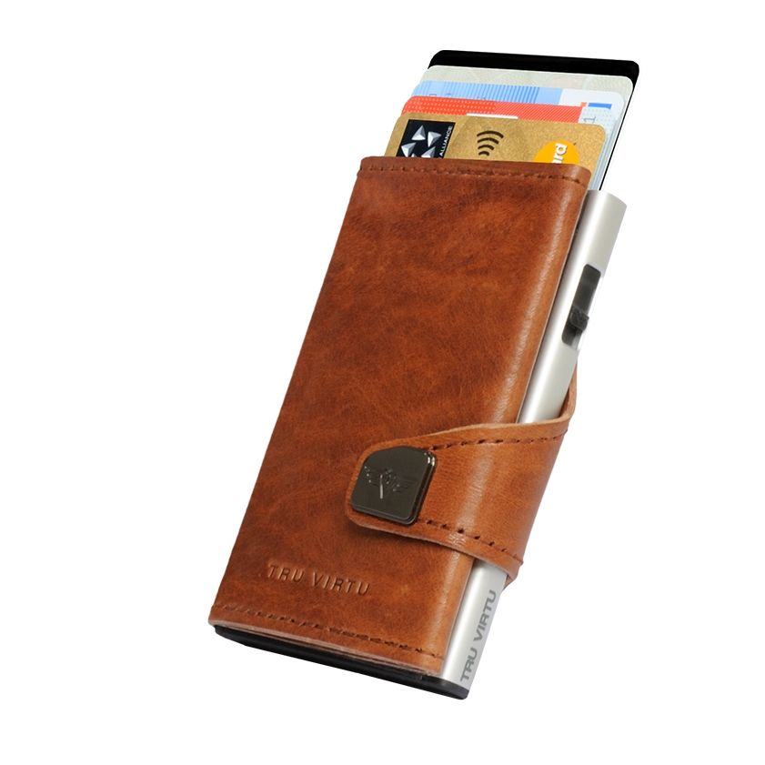 TRU VIRTU Click n Slide Wallet - Natural Brown