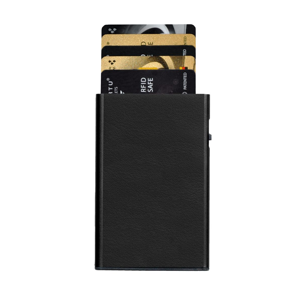TRU VIRTU Card Case Click n Slide Wallet - Nappa Black