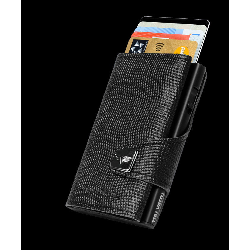TRU VIRTU Click n Slide Wallet - Lizard Black