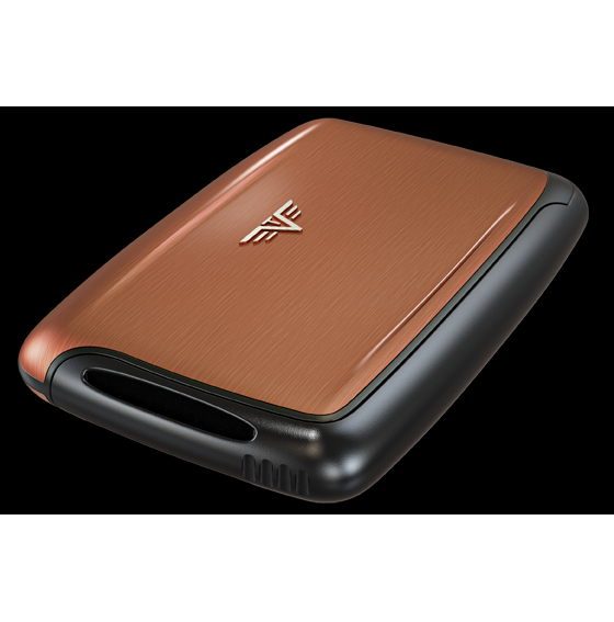 TRU VIRTU Aluminum Card Case - Pearl - Brown