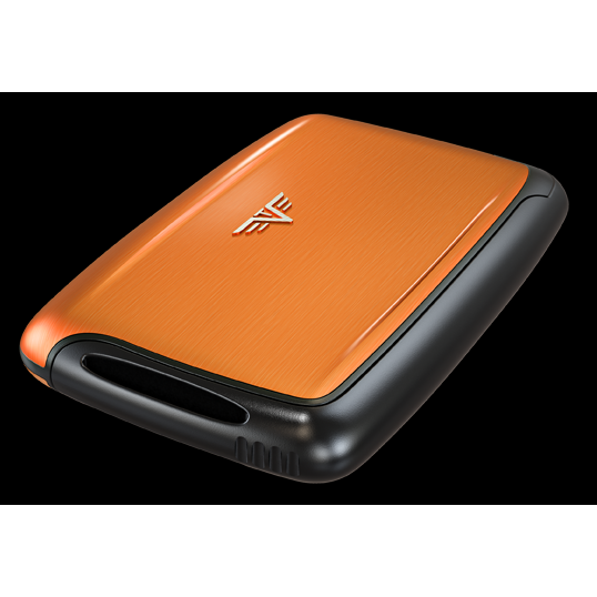 TRU VIRTU Aluminum Card Case - Pearl - Orange