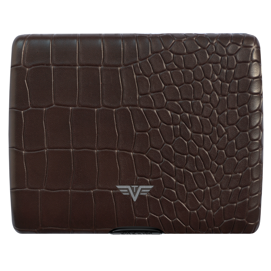 TRU VIRTU Aluminum Wallet Ray - Paper & Cards - Leather Line - Croco Brown