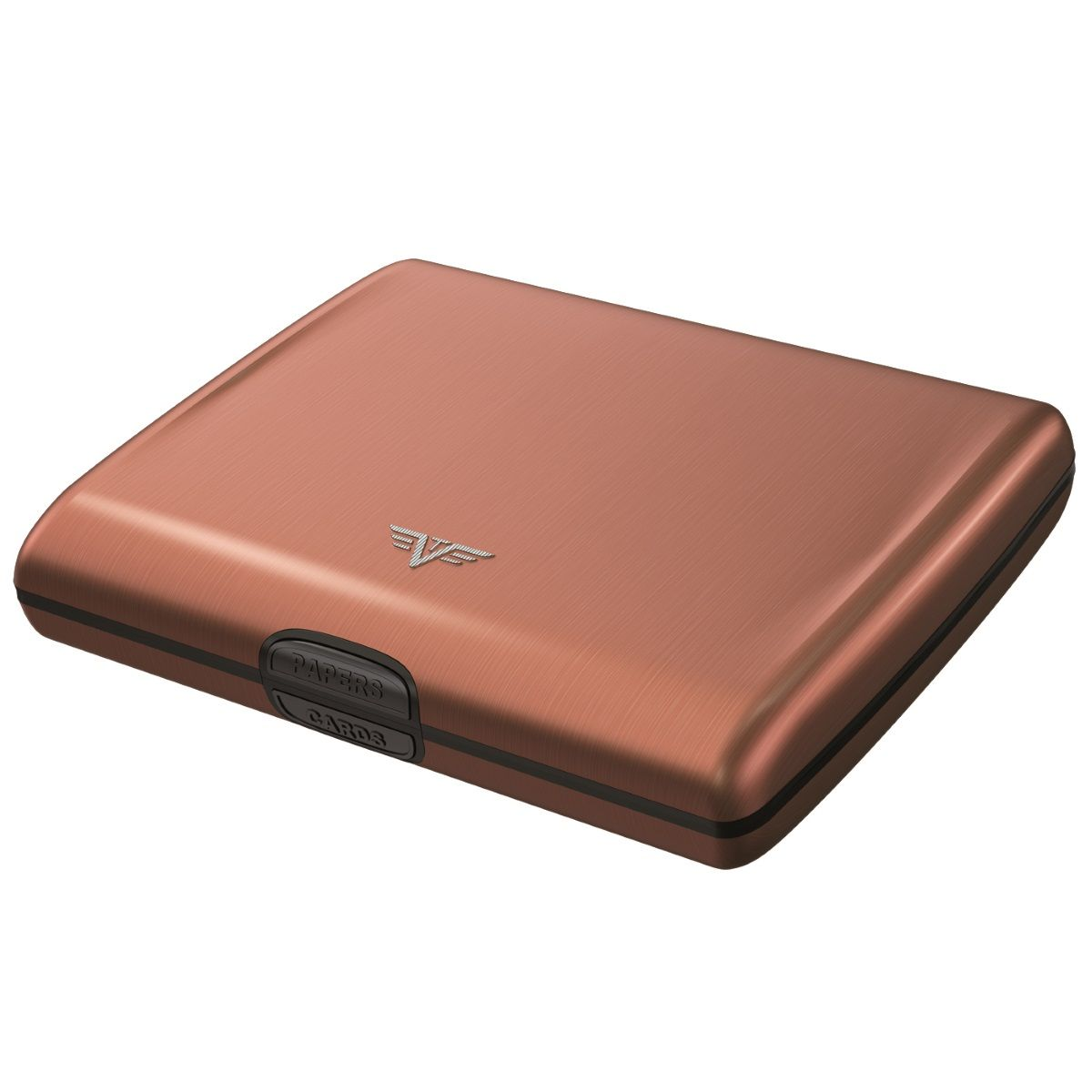 TRU VIRTU Aluminum Wallet Ray - Coffee