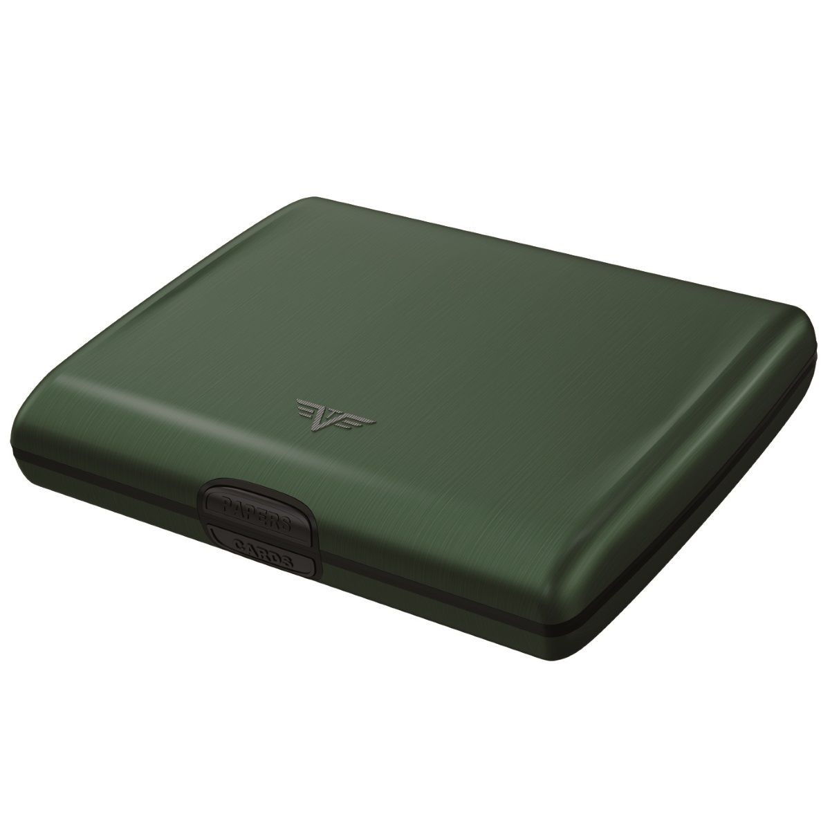 TRU VIRTU Aluminum Wallet Ray - Hunter Green