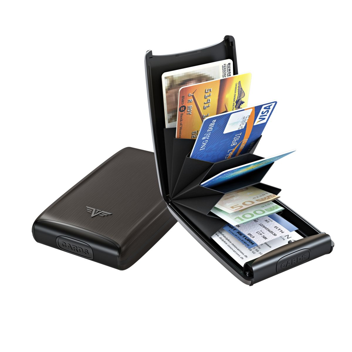Aluminum Card Case Fun - Black