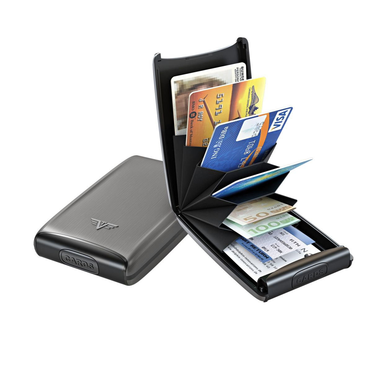 TRU VIRTU Aluminum Card Case Fun - Platinium