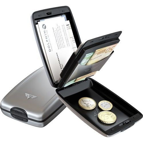 Aluminum Wallet Oyster Cash & Cards - Silver