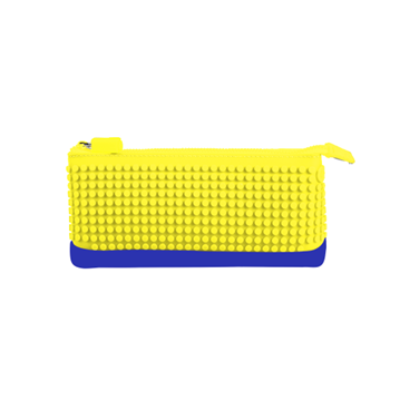 Pencil Case - Yellow/Blue