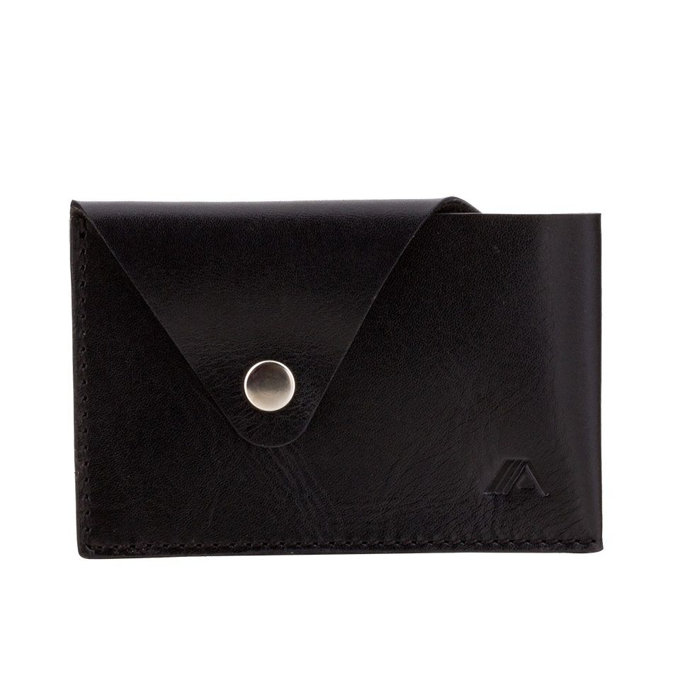A-SLIM Leather Card Case Tsuki - Black