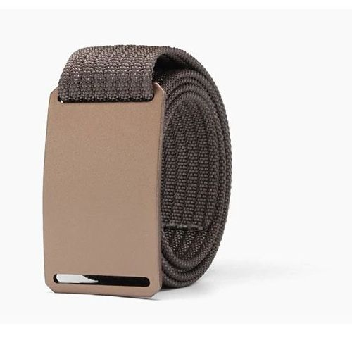 WALLET Canvas Flat Buckle Belt - Brown