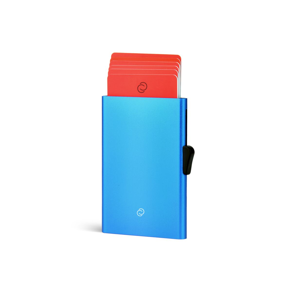 C-Secure Slim Aluminum Card Holder - Blue
