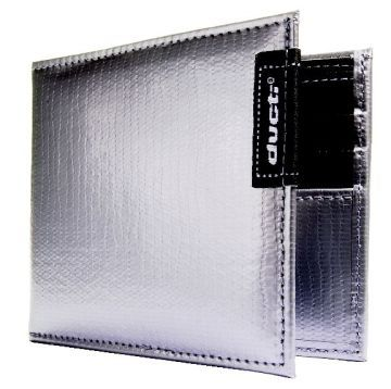 Duct Tape Bi-Fold Wallet - Silver