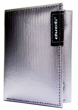 Duct Tape Tri-Fold Wallet - Silver
