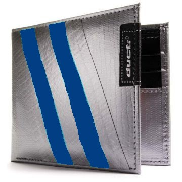 Duct Tape Bi-Fold Wallet - Silver/Blue