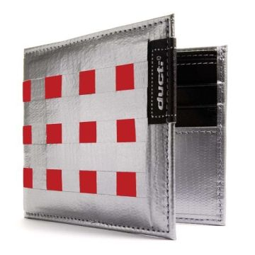 Ducti Duct Tape Bi-Fold Wallet - Silver/Red