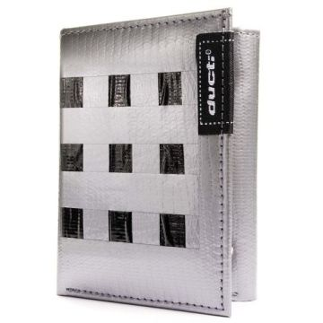 Ducti Duct Tape Tri-Fold Wallet - Silver/Black