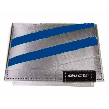 Ducti Duct Tape Undercover Wallet - Silver/Blue