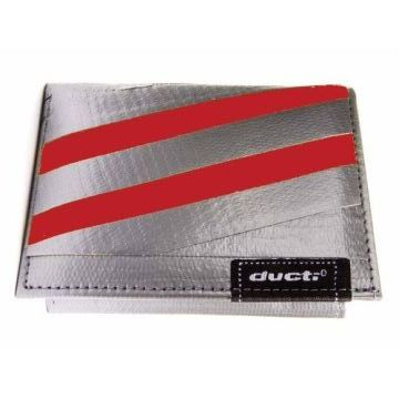 Ducti Duct Tape Undercover Wallet - Silver/Red