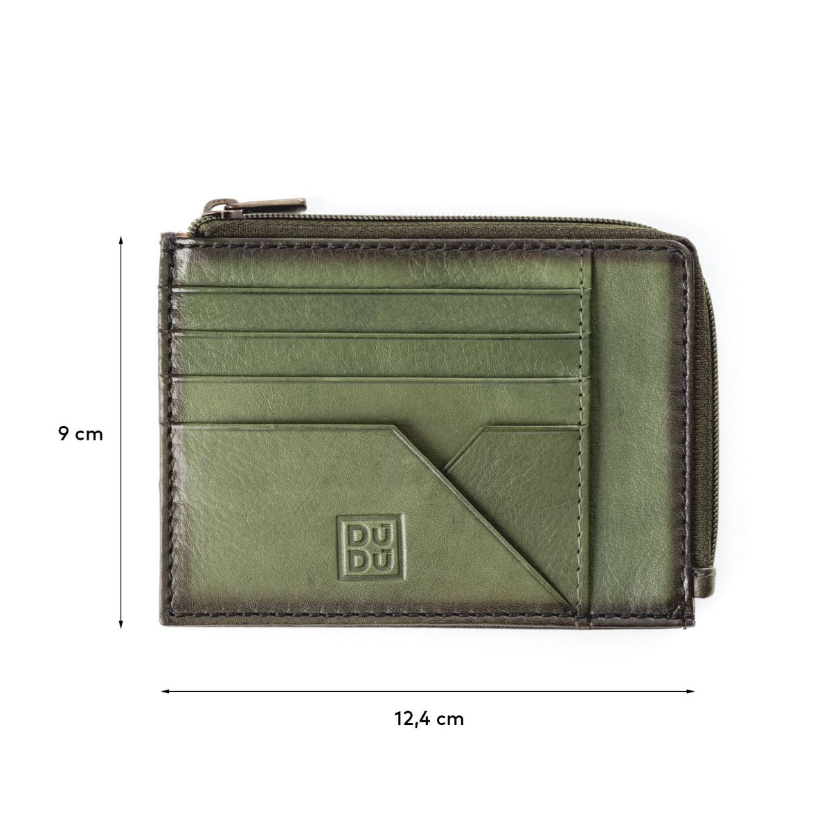 DuDu Flat Leather Wallet - Green