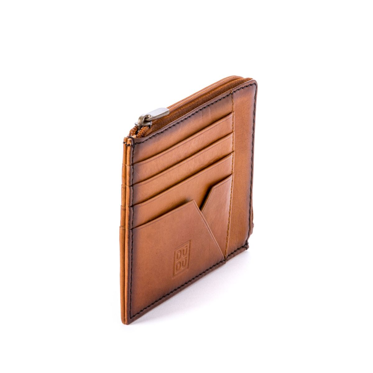 Flat Leather Wallet - Light Brown