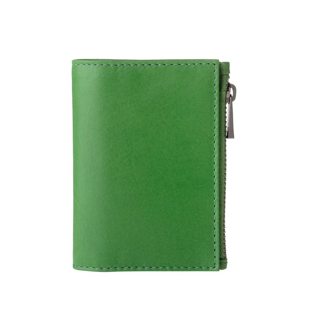DuDu Zip-It Minimalist Leather Wallet - Green