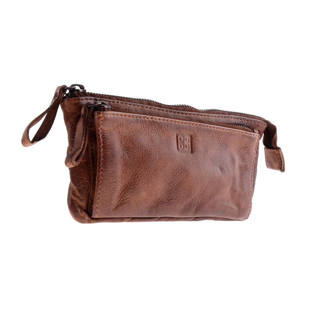 DuDu Woman's Hand-Made Soft Leather Purse - Brown