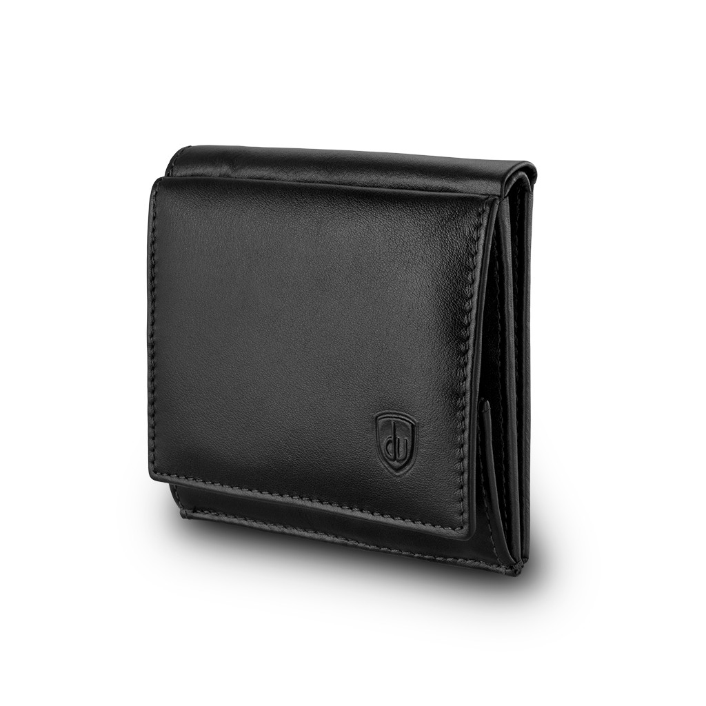 Small mans elegant billfold wallet  - Black
