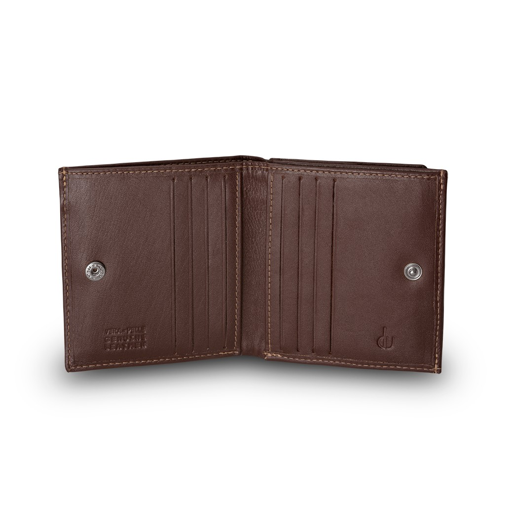 Small mans elegant billfold wallet  - Brown