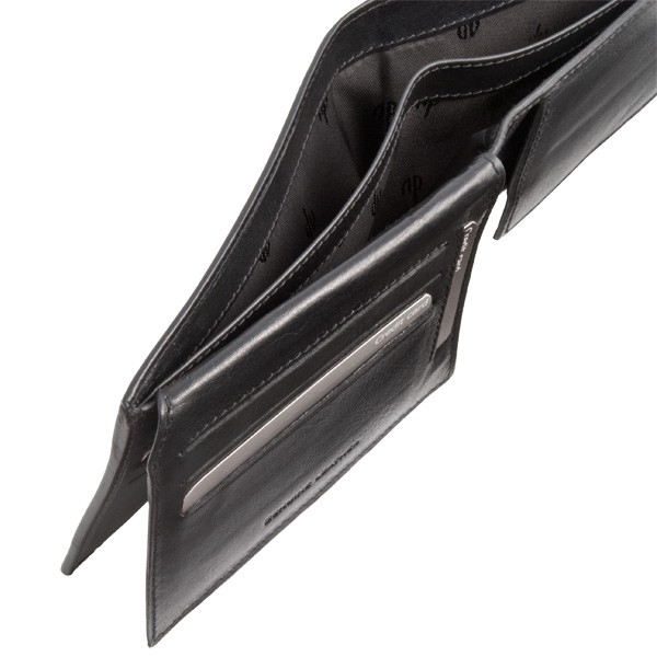 dv Leather wallet with well model coin purse - Black