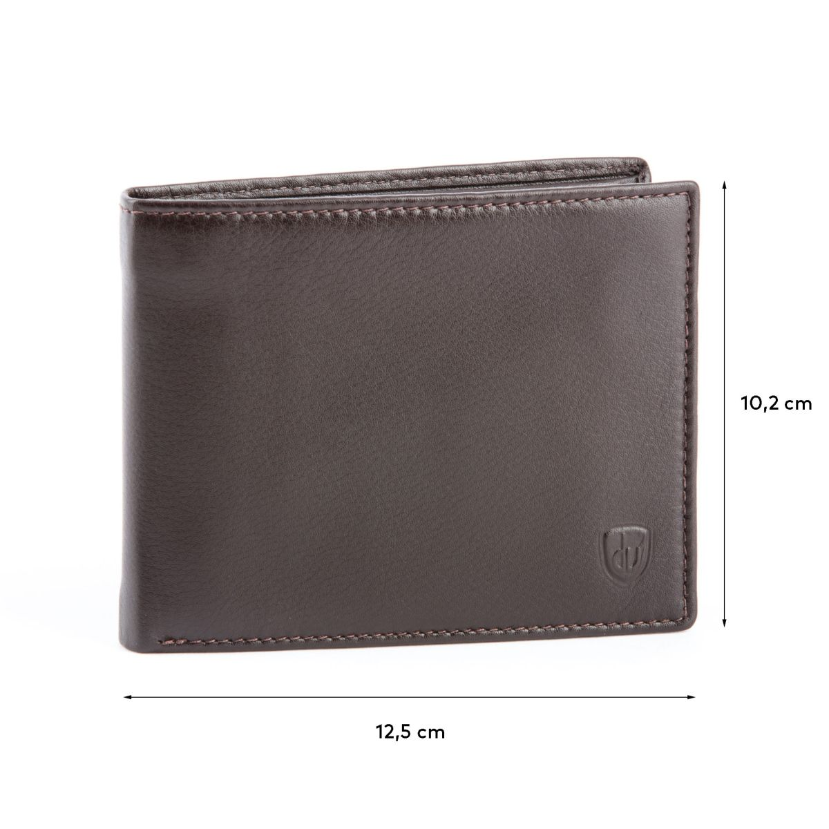 dv Leather Wallet for men with inner flap side - Brown