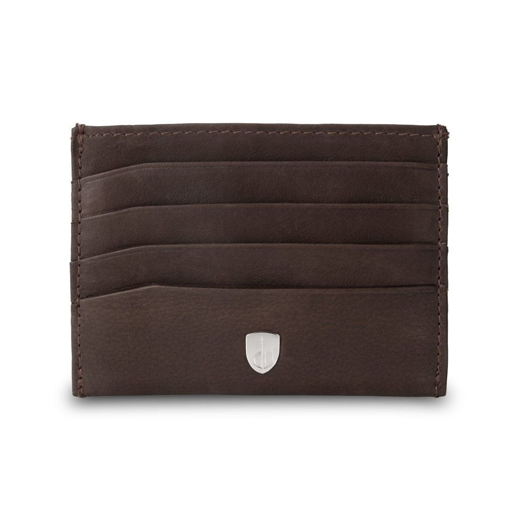 Minimalist leather credit card wallet - Brown