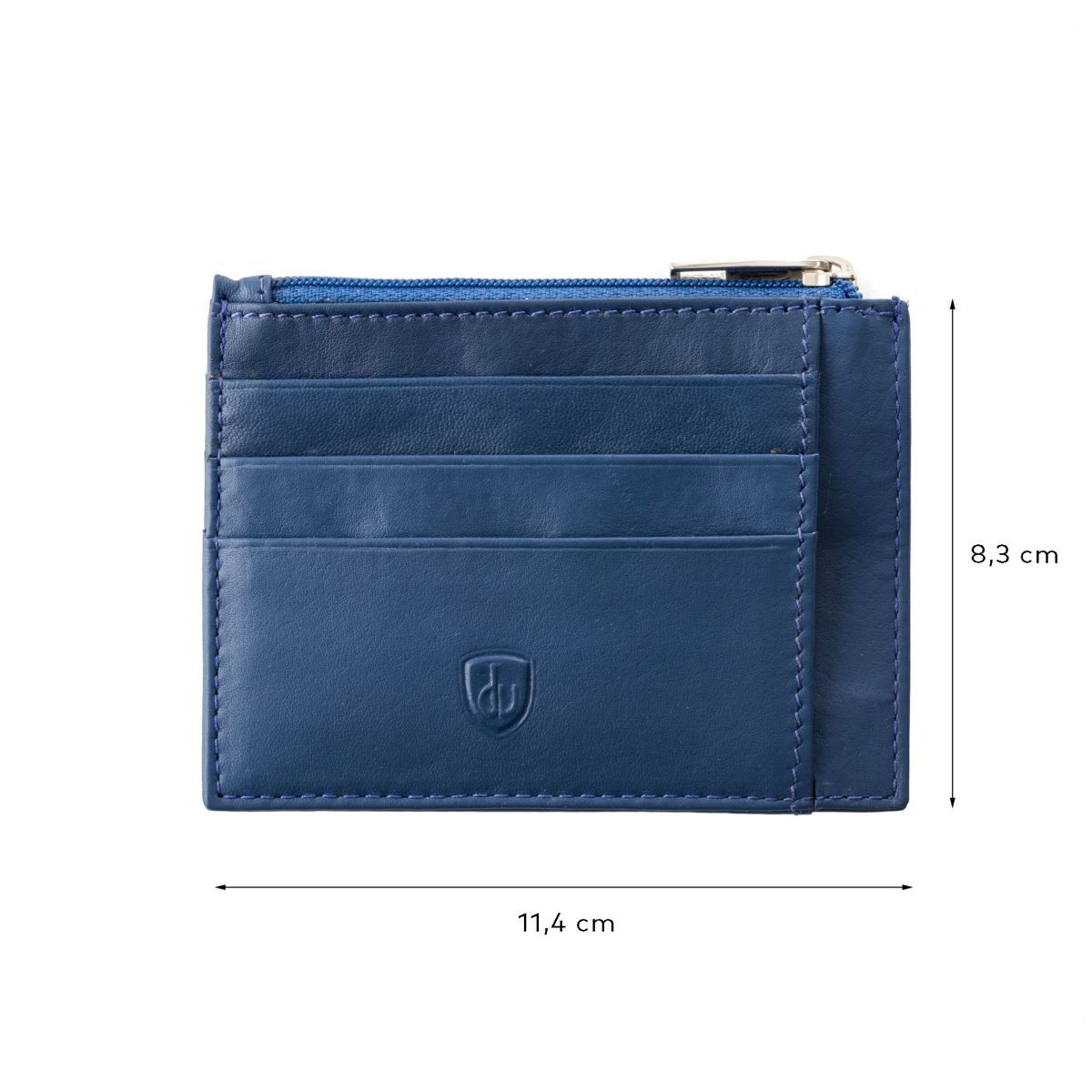 dv Slim leather credit card wallet - Blue