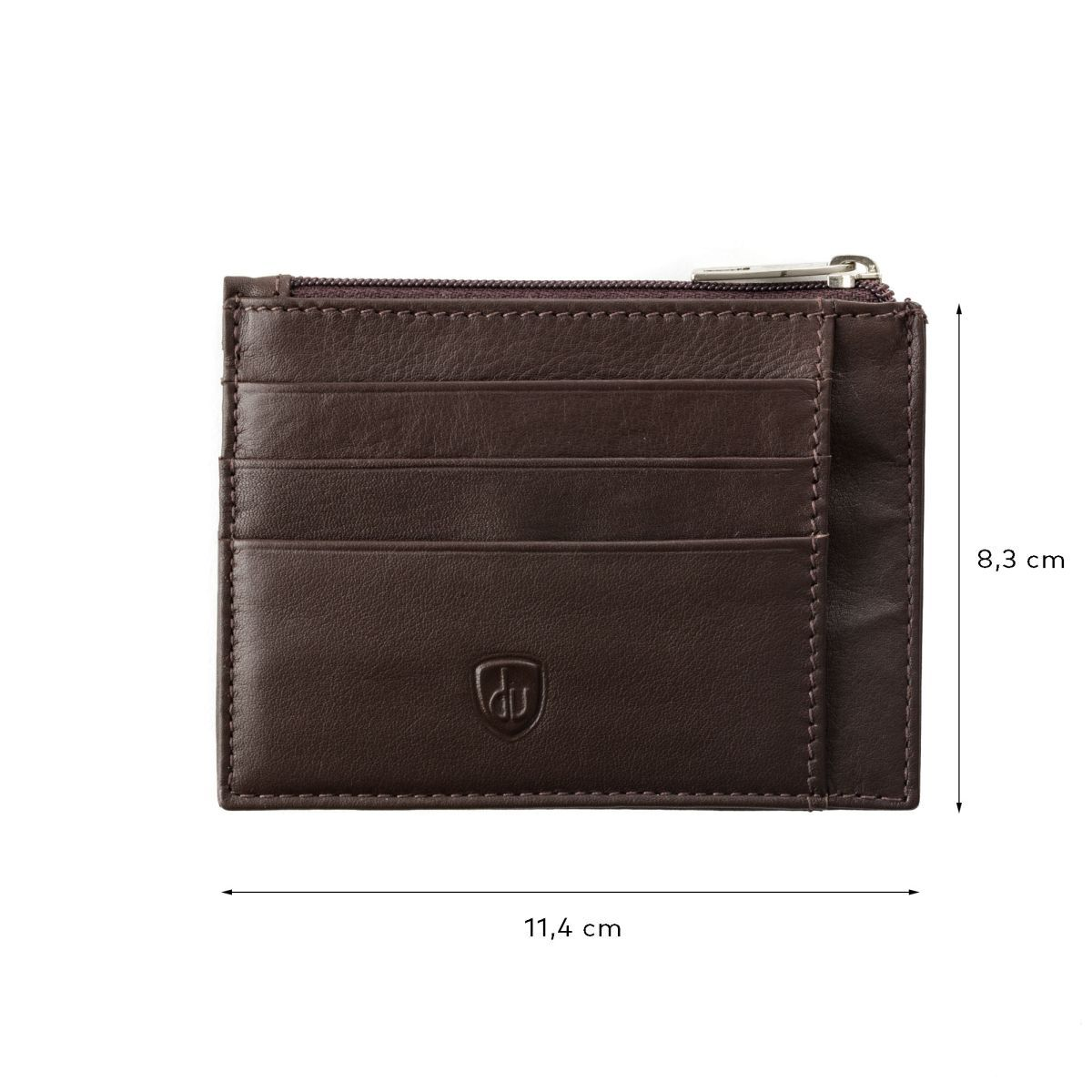 dv Slim leather credit card wallet - Dark Brown